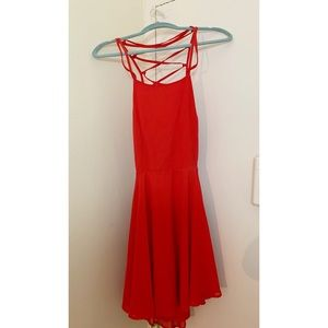 Lulus Red Lace-up dress NWT !